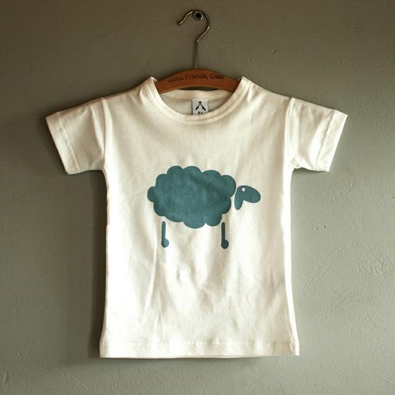 21988080 Økologisk t-skjorte barn, gråblå sau 2-4 år - Epla