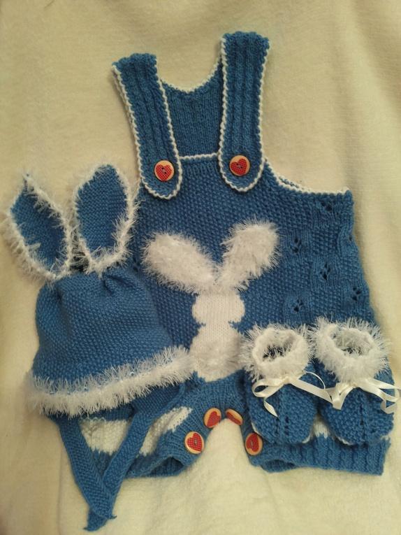strikkejakke baby i dobbelt garn