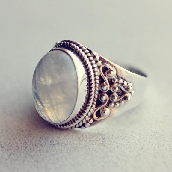 stor sølvring