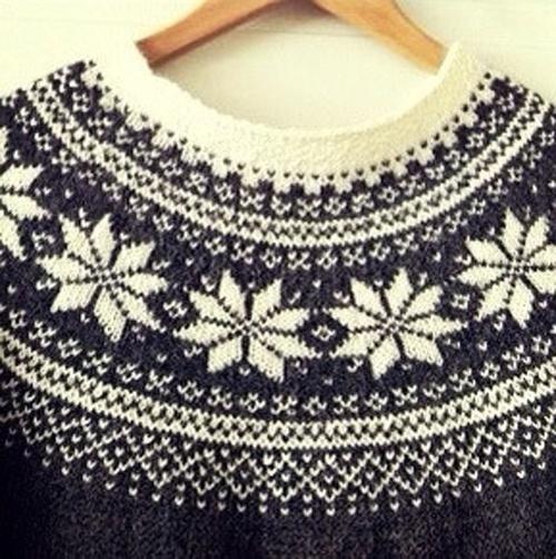 Norwegian Sweater Knitting Patterns : Stjernegenser ~ M?nster - Epla