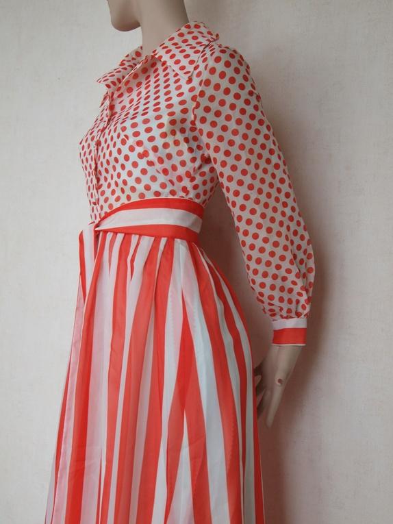 1c96c85c salg! fin kjole med striper og polkadots fra 70 tallet str m 30% avslag.  EPLA