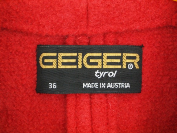 Geiger jakke, S 70 tallet