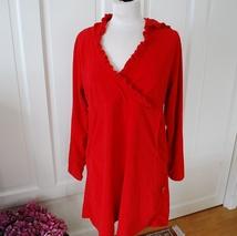 Dyp rød kjole i stretch fra H&M, str. 40
