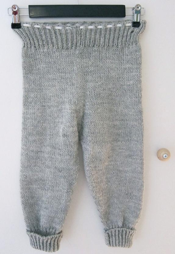 Strikket bukse, 100% ull, str. 2 3 år