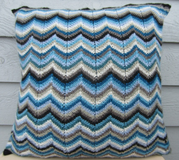 Sikksakk mønster strikk
