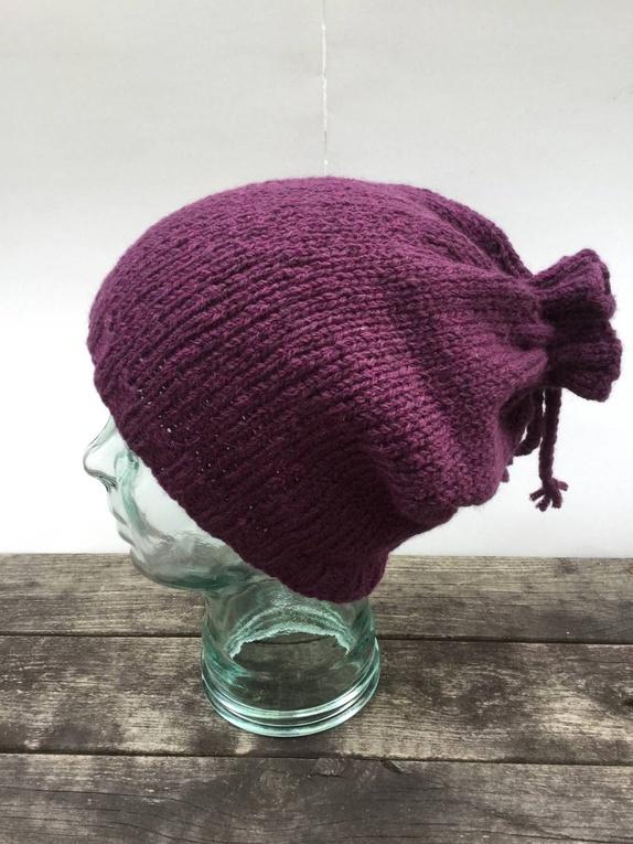 09e0650a Knytelue i lilla - Norge - Lue strikket i Setoso fra Mondia (70% merinoull
