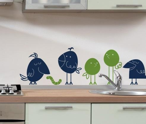 Wallsticker (327n) - Birds - Norge - Size : see the second picture please Birds are in two colours that you can choose from the colour chart. Available in 31 colours There is also an option of a mirror image. Apply to any smooth, clean dry surface. Also suitable for glass ane windows - Norge