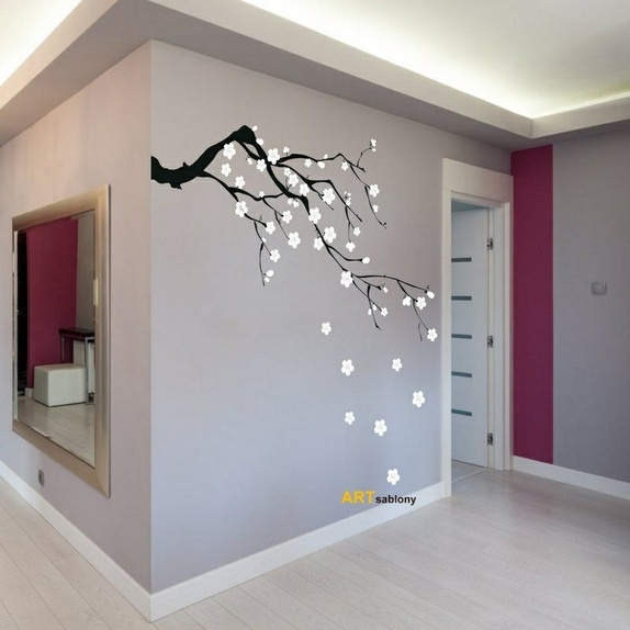 Wall sticker - Sakura (3418n) - Norge - Size : 100x55 + flowers Available in 31 coloursThere is also an option of a mirror image. Stickers are in two colours that you can choose from the colour chart. Colour n. 1 – TreeColour n. 2 – Flowers Apply to any smooth, clean dry surface. Al - Norge