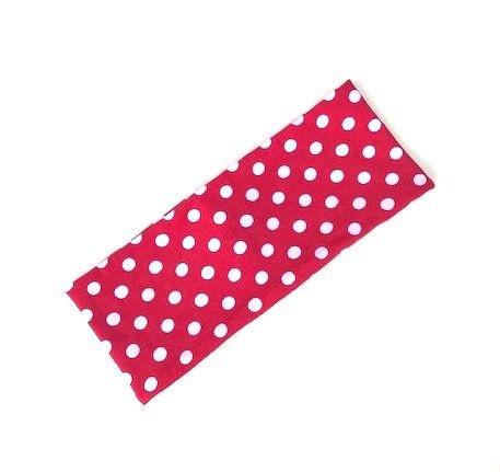 Bomull rød med hvite prikker