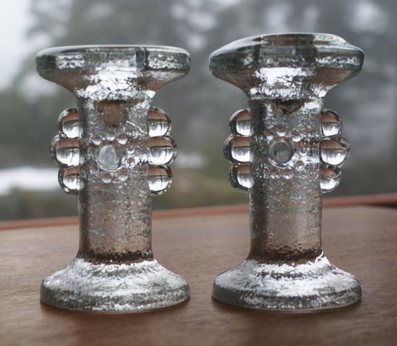 Lysestaker i glass