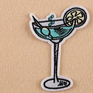 1 stk strykemerke, party! - Norge - drink party skål! 10x 7 cm - Norge