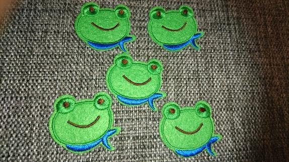 5 stk frosker, strykemerker! - Norge - 3.8cm x 2.7cmprisen er for 5 små grønne frosker - Norge