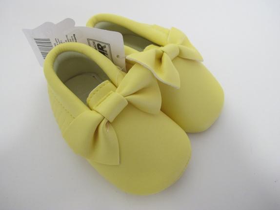 SALG! Ballerinasko i Gul 12-18 mnd - Norge - Ballerina sko. Super søte ballerinasko med sløyfe i en deilig gul farge. Skoene er i størrelse 12-18 mnd, og er i imitert skinn. Supre gaver! Før 139Nå 99 - Norge