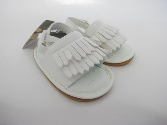 SALG! Sandaler med frynser i krem 6-12 mnd - Norge - Sandaler med frynser Super kule sandaler med frynser i en deilig krem farge. Skoene er i størrelse 6-12 mnd, og er i imitert skinn. Like kul til gutt som jente. Supre gaver! Før 179Nå 129 - Norge