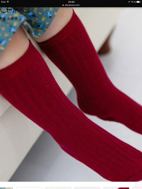 Knestrømper - Vinrød - Norge - Knestrømper - Vinrød Superkule og populære knestrømper til barn. Str 10-12 mnd Oppgi hvilken størrelse du ønsker. - Norge