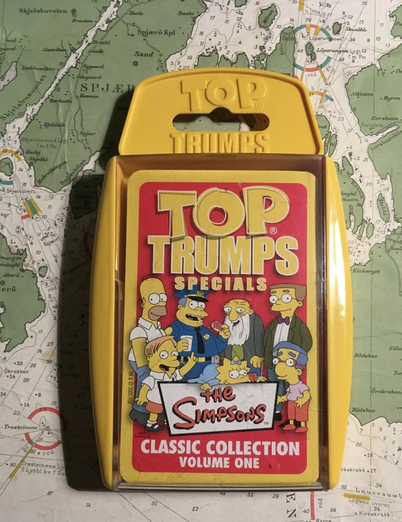 TOP Trumps Simpsons - Norge - Classic collections vol 1. the Simpsons. 33 kort. 2005. - Norge