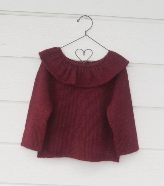 strikket genser med krage