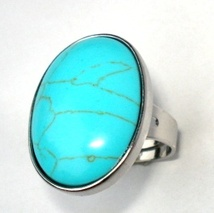 ad2ffb11 Tukis stein ring regulærbar, turkis stein ring smykke, trendy smykker ring  med edelstein