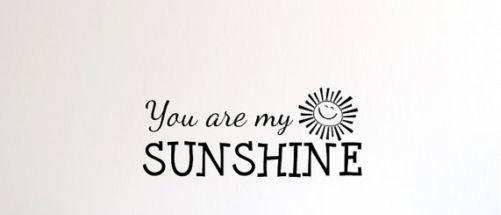 You are my sunshine veggdekor - Norge - Mål: 25*56 cmEkel og feste på alle overflater. - Norge