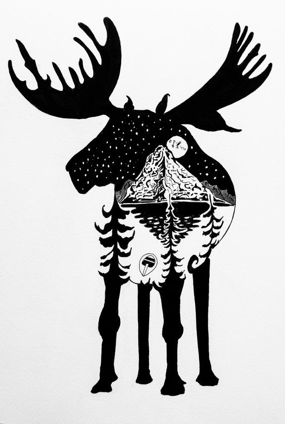 elg tegning