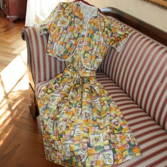 Skjønn vintage kjole fra 50 60 tallet