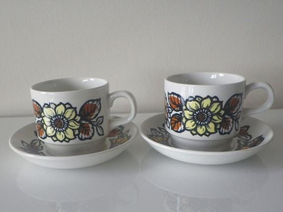 3364a5fb 2 Retro Staffordshire kopper med skåler - Epla