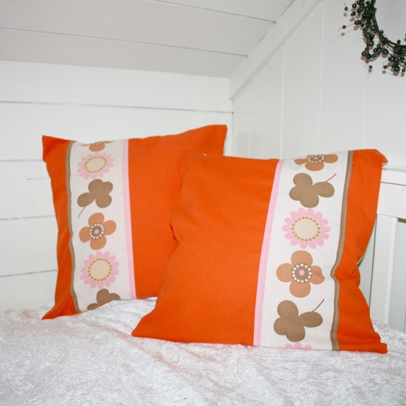 Herlig 2 puter: oransje og retro-blomster - Epla EZ-29