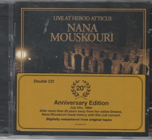 CD Nana Mosuskouri dobbel cd Live At Herod Atticus - Norge - CD utgitt 2004 ny ubrukt, ikke plastforseglet. - Norge