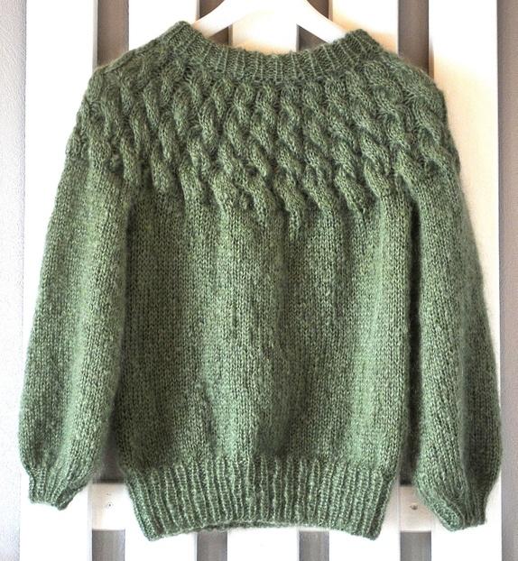 Jadegrønn Jackie genser Epla