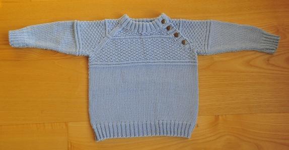 Isblå genser