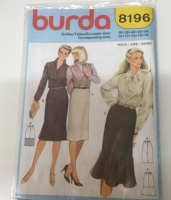 3fea85321 Vintage mønster: Skjørt fra Burda