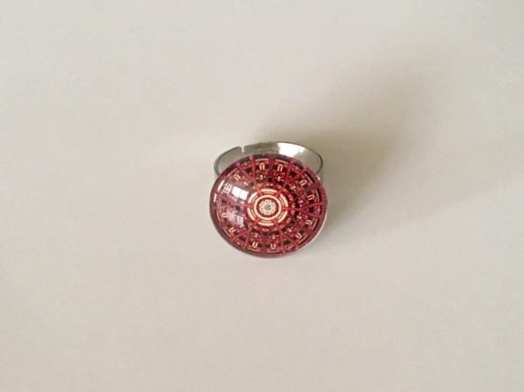 Ring med Mandala motiv - Norge - Ring laget av cabochon med Mandala motiv. Str : 18 mm Justerbar ring !!! - Norge