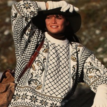 Mønster jakkebuksetopp Dame