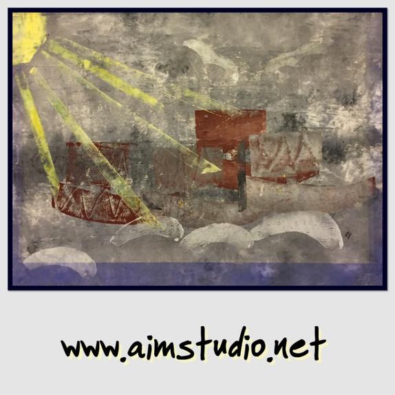 Trykk 010 - Norge - Original kunst produsert av Alison Irene Meyer 'aimstudio'. Dette er en kopi trykt på 280 gram kvalitetspapir. 30 x 30 cmPasse fint med passapartour i hvit, ramme kan kjøpes på IKEA - Norge