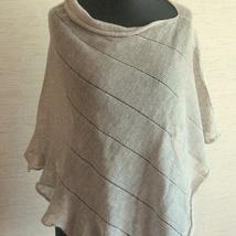 71cc997f kr 414,-. Lin Sjal Cape Poncho Klær Kornblomst asfalt grå Striper Striped /  Klær For Kvinner