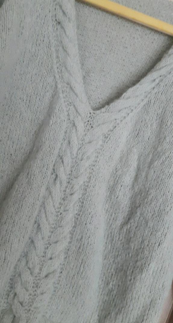 f24eb80f Nydelig, myk og lett genser. Str M. Strikket av garnet faerytale