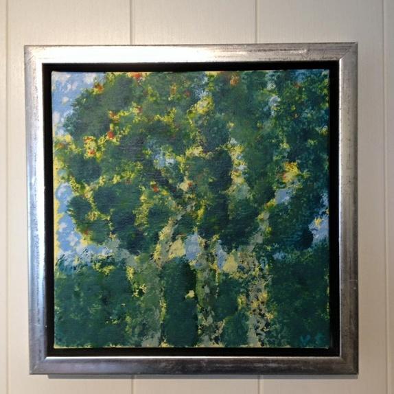 One - Norge - - ONE - Alle er vi ett. Her har jeg brukt teknikken inspirert av impresjonistenes malemetode pointillisme. 15 cm x15 cm - Norge