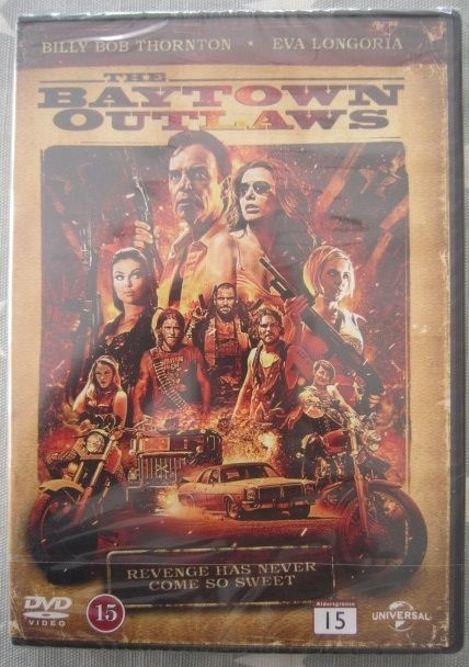 The Baytown Outlaws - Norge - NY. Forseglet. Billy Bob ThorntonEva Longoria Action.Sone 2 - Norge