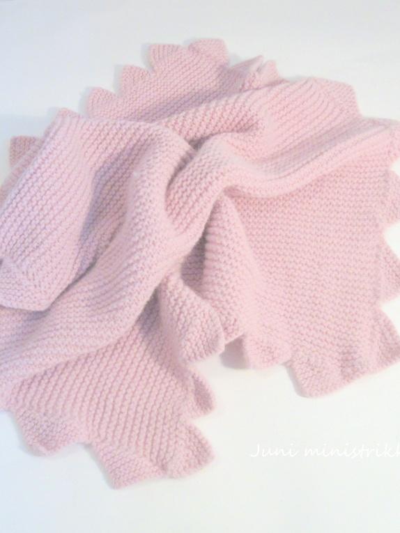 strikke babyteppe ull