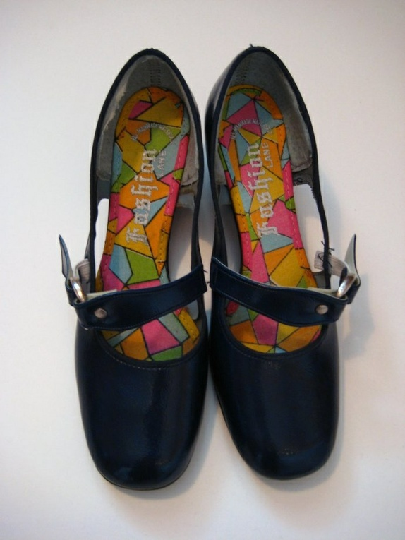 Mary talletvintage mod 60 sko Blå Jane fra Epla R435jLA