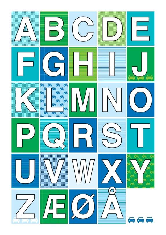 Alfabet plakat - gutt A3 - Epla