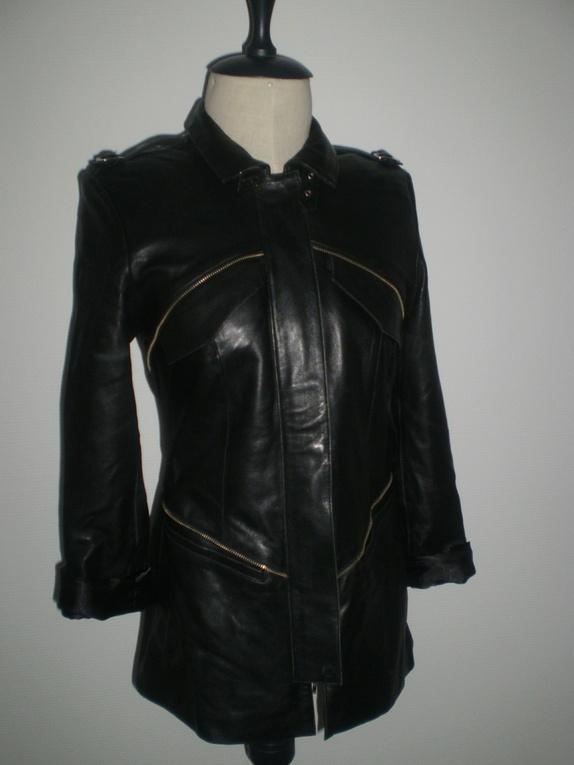 Semsket skinn jakke fra H&M trend str 40 | FINN.no