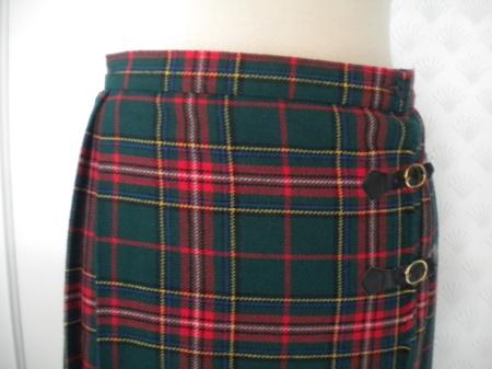 fd6b93d7 Vintage skotskrutet skjørt - Epla