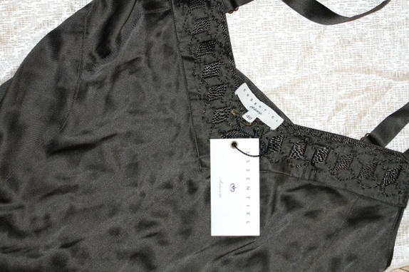 Sort silketopp str 40 - Norge - 95% silke og 5% elastin. - Norge