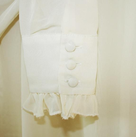 Kremfarget bluse, Jenny Skavlan for BikBok! (S) Epla