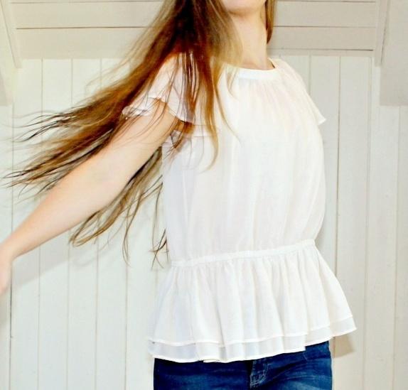a69d91c7 Vakker bluse med rysjer! (36) - Epla