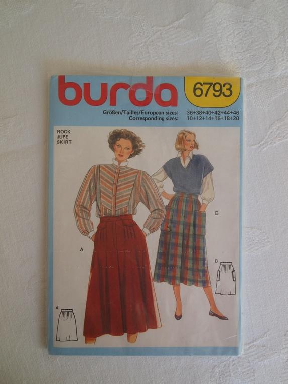 24370198 Tre Burda-mønstre fra 80-tallet. Moten var romslig den gangen, noe som  gjenspeiles i den kommende moten i dag. Mønster nr. 1: Skjørt med legg  eller rynker i ...
