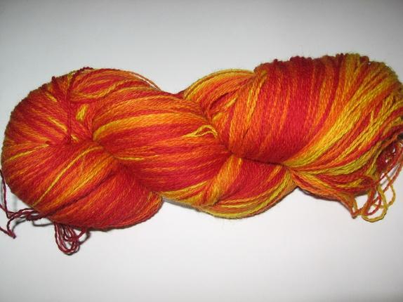 100 Wool Yarn Flame Orange Yellow 8 2 237 G Epla