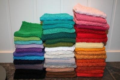Oppskrift på strikkede kluter