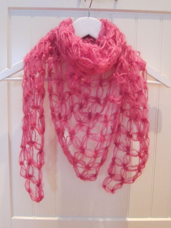 Englemaske sjal - rosa - Epla 9335fc0fd2eeb